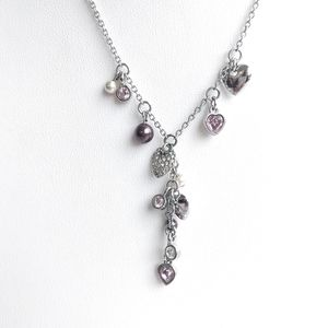 Swarovski Cascading Heart Y-shape necklace